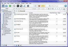jami golds scrivener template screenshot of scrivener outliner view - Scrivener Resume Template