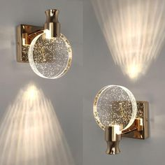 Crystal Sconce, Crystal Wall, Mirror Decor Living Room, Bedroom Sconces, Modern Wall Sconces, Contemporary Wall Lights, Bathroom Wall Lights, Wall Lamps, Home Decor Lights