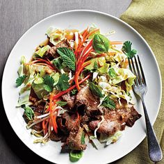 Lots of veggies and herbs pack flavorful Thai Steak Salad. It's quick to prepare and would also be delicious with grilled chicken or lamb.