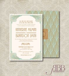 Printable Wedding Invitation Set - Art deco Diy Printable invitation - Glamour Wedding invitation by RoseBonBonShop on Etsy Art Deco Wedding Invitations, Printable Wedding Invitations, Wedding Invitation Sets, Wedding Stationary, Invitation Design, Invitation Templates, Invites, Diy Wedding Projects, Wedding Crafts