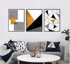 Consegna gratuita e grande scelta. Set Of 3 Gold Black And White Printable Wall Art Set Geometric Prints Digital Prints Abstract Art Nel 2021 Quadri Astratti Verniciatura A Spruzzo Decorazioni