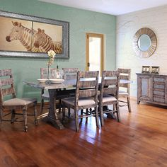 Rustic Dining Room Table Costa Mesa And Side Chairs Set By IFD At Kensington Furniture Perfect For A Farmhouse Design