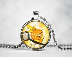 Torchic Pokemon Pendant Pokemon Necklace with by PokemonyByAnn