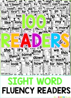 These sight word fluency readers make it easy to learn sight words in context. Teaching Sight Words, Dolch Sight Words, Sight Word Practice, Sight Word Games, Sight Word Activities, Cvc Words, Reading Activities, Preschool Activities, Reading Fluency
