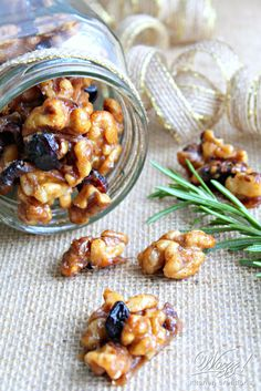 A simple easy recipe for holiday candied nuts perfect for gift giving or holiday entertaining. Raw Food Recipes, Snack Recipes, Snacks, Salad With Sweet Potato, Paleo Treats, Holiday Appetizers, Love Food, Food Porn, Cookies