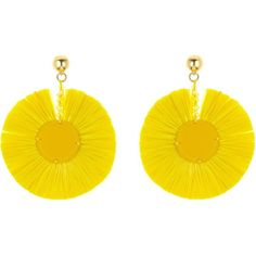 Oscar de la Renta Marigold Large Raffia Disk Earrings (22.135 RUB) ❤ liked on Polyvore featuring jewelry, earrings, nickel free clip on earrings, clip on earrings, beading earrings, clip earrings and oscar de la renta