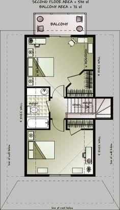 2nd floor plan - option 1