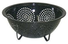 Granite Ware 0713-6 9-Inch Colander by Granite Ware. $7.33. Good grainage. Easy clean up. Prepare food for cooking or canning. What better way to prepare your fruits and vegetables for canning or cooking than with this 9 inch colander.  And of course it works great for straining pasta. Colander sits on two feet for easy drainage.  Black