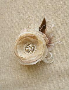 Wedding Hair Flower Bridal Flower Hair Clip Wedding by BelleBlooms