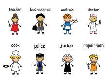 Cartoon people of various professions Royalty Free Stock Photo