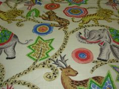 ~BTY~ BRAEMORE~JUNGLE ANIMALS~AWSOME UPHOLSTERY FABRIC~FABRIC FOR LESS~