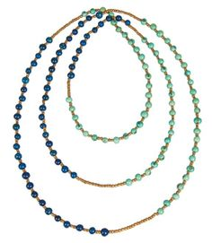 Our unique and beautifully crafted Acai Rope Necklace comes in a variety of colors including Aqua/Blue, Berry/Tangerine, Papaya/Curry, Ivory/Steel and many more! Check them all out at www.olinafaire.com Olina Faire... a World of reasons to Party!  Dimensions: 84in