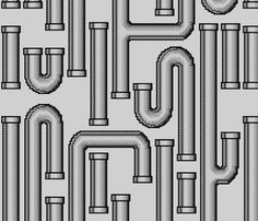 For the bathroom? Pipes_light gray fabric by celebrindal on Spoonflower - custom fabric