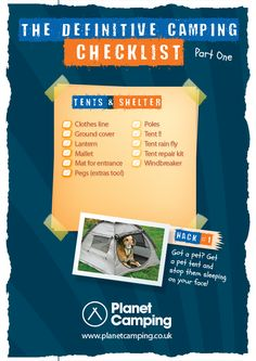 The Camping Trip Essential & Printable Checklist