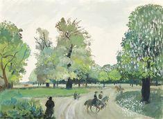Oskar Laske : Galerie bei der Albertina Gouache, Portrait, Artsy, Drawings, Paper, Green, Painting, Artworks, Canvas