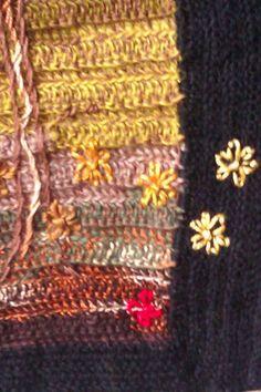 Small wallhanging, wool, detail Friendship Bracelets, Elf, Wool, Detail, Handmade, Jewelry, Fashion, Moda, Hand Made