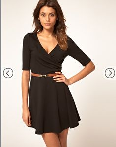 ASOS Mini Dress With Wrap Front
