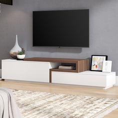 Charleroi TV Stand for TVs up to tv cabinet design, Tv Unit Furniture, Living Room Furniture, Living Room Decor, Furniture Design, Furniture Removal, Tv Cabinet Design, Tv Wall Design, Muebles Rack Tv, Modern Tv Wall Units