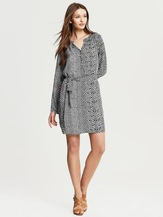 Banana Republic | Snake Print Shirtdress