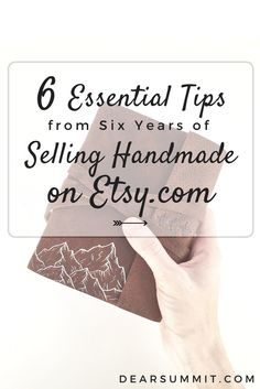 Six of the most important tips for selling handmade on Etsy.com