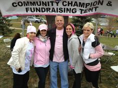 Sales Consultant Marty McKenna Pictured center at South Suburban Making Strides Against Breast Cancer 5k walk in Orland Park ,IL