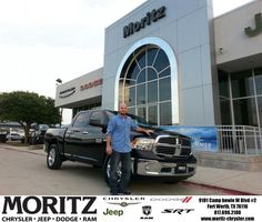 Congratulations to Jerry Coe  on your #Ram #1500 purchase from Lyon Alizna at Moritz Chrysler Jeep Dodge RAM! #NewCarSmell