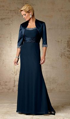 Caterina Collection by Jordan Chiffon Mother of the Bride Dress 5005 at frenchnovelty.com