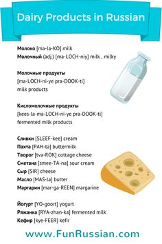 Let's talk about the dairy products in Russian. Learn the names of milk products in Russian, and enjoy my delicious milk cocktail recipe!