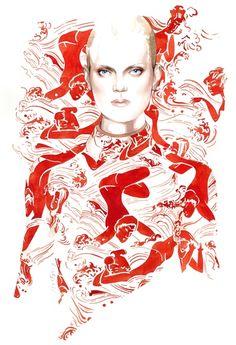 Carven Spring Summer 2015 fashion illustration by Antonio Soares
