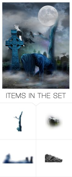 """Leaving Me Behind"" by forestcat-lsc ❤ liked on Polyvore featuring art, gothic, tears, graveyard, death, ghost, sad, grave and romance"