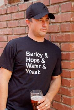 Barley Hops Water & Yeast - Father's Day Craft Beer T-Shirt on Etsy, $20.00