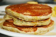 Eating Fresco: Banana Oatmeal Pancakes with Blueberries