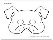 Dog Mask Printable Templates Coloring Pages Firstpalette