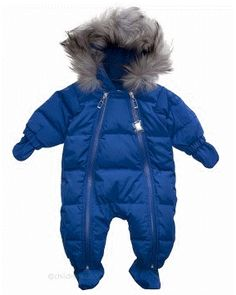 Baby Dior hooded snowsuit