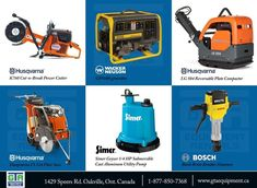 #concrete #landscaping #construction #equipment rentals. Located in Oakville, Ontario serving the GTA! Visit our website for more. Oakville Ontario, Gta, Concrete, Landscaping, Home Appliances, Construction, Website, House Appliances, Building