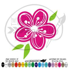 Cherry Blossom   Vinyl Decal Sticker  by TheCreativeAdult on Etsy
