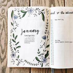 Frida (@fridastudies) on Instagram: January monthly spread Bullet Journal #bulletjournal #monthly #monthlyspread #bujo #bujoinspo #bujoinspiration