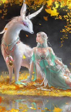 Pin on Kunster Dark Fantasy Art, Fantasy Women, Anime Fantasy, Fantasy Girl, Fantasy Artwork, Beautiful Fantasy Art, Beautiful Fairies, Anime Girl Cute, Anime Art Girl