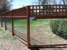 wire mesh with wood posts and lattice