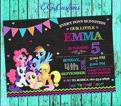 My Little Pony Invitation My Little Pony Birthday My by EGCustoms