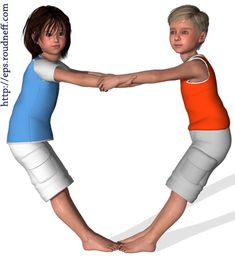 Yoga For Kids, Kids Sports, Team Building, Yoga Poses, Fitness, Images, Exercises, Sports