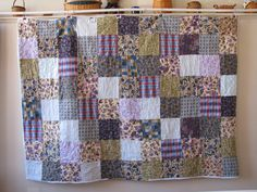 Flannel Quilt by Log Cabin Country Quilts  I love these colors and just want to snuggle under the flannel.