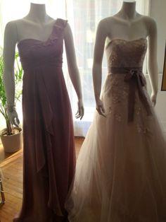 Lovely lavender dresses by David's Bridal