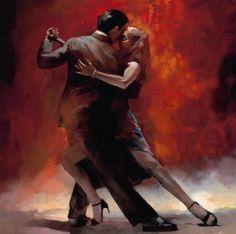 100% el- boyalı modern klasik sanat yağlıboya boya tuval sevgilisi tango dans( çerçeve)(China (Mainland))