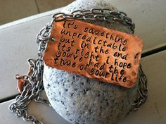 Green day inspired music quote Lyric necklace hand by CENTiment