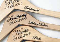 Bridesmaids hangers, personalized wedding hangers, brides hanger, bridesmaids gifts