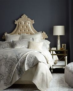 Shop Gustav Bed & Storage Ottoman from Haute House at Horchow, where you'll find new lower shipping on hundreds of home furnishings and gifts. Funky Furniture, Furniture Decor, Bedroom Furniture, Furniture Design, Candice Olson Bedding, Bedroom Bed, Bedroom Decor, Master Bedroom, Bedroom Ideas