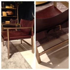 Le Corbusier meets equestrian chic in the Aspen chair from Bernhardt Interiors.  Matte brass and soft, buttery leather?  It doesn't get better!  Workable buckles (in back and underneath the seat) enable the lucky owner to tighten the back and seat as the leather naturally stretches over time.  Plus, they add great style!  Bernhardt Interiors (IHFC D601) #HPMkt