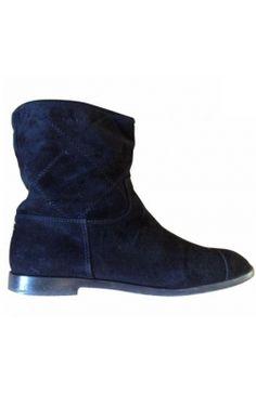 #Chanel Low #Boots Daim Noir 37 #kollas #kollasshop