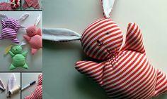 Maak zelf een schattig knuffel konijn voor je baby - Handgemaakt - Rabboon, ontwerp unieke geboortekaartjes, alles voor uw baby en kind